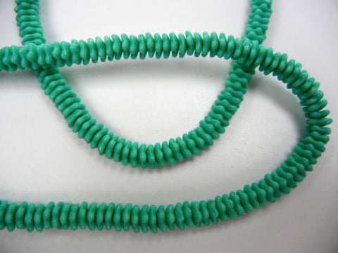 192 Czech glass flat star bead cups 7x3mm Green Turquoise color, 16 inch strand