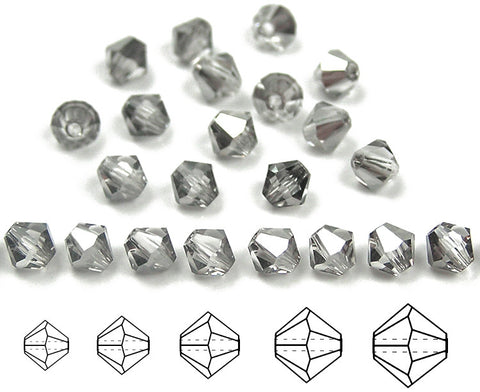 czech-mc-beads-bicone-Crystal-Silver-Shade