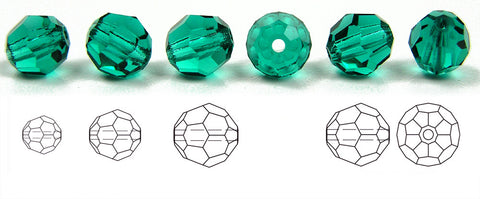 Blue Zircon, Czech Machine Cut Round Crystal Beads