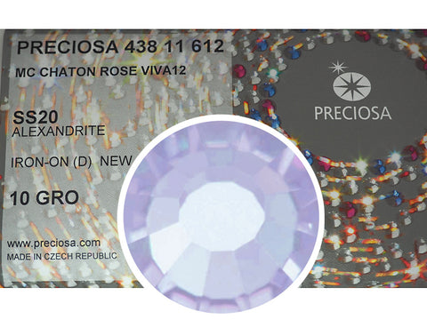 Alexandrite HOTFIX, 1440 Preciosa Genuine Czech Crystals 20ss Viva12 Iron-on, ss20, 5mm