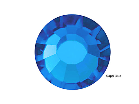 Capri Blue, Preciosa Viva Chaton Roses Article 438-11-612 (Viva12 Rhinestone Flatbacks), Genuine Czech Crystals
