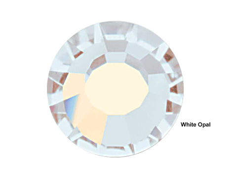 White Opal HOTFIX, 288 Preciosa Genuine Czech Crystals 30ss Viva12 Iron-on, ss30,6.5mm