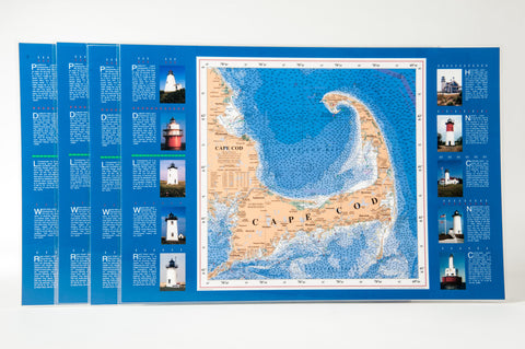 Cape Cod nautical chart art pacemat