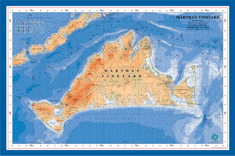 Martha's Vineyard nautical chart art