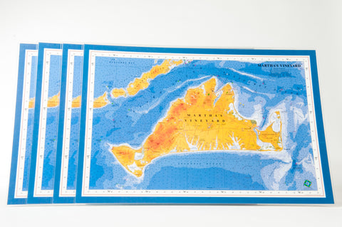 Martha's Vineyard nautical chart art placemat