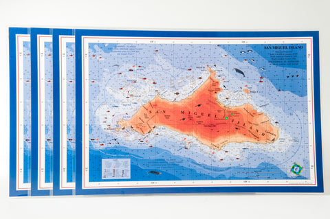 San Miguel Island nautical chart art placemat