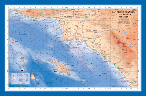 San Pedro Channel poster (laminated)