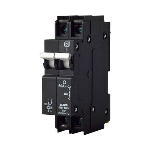 Mini Rail Circuit Breaker 2 Pole 3kA - QA-2(13)