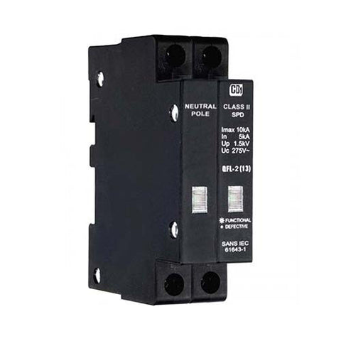CBi Surge Arrester with Indication 1 Pole + N 5kA - QFLN-2 QFLM0002