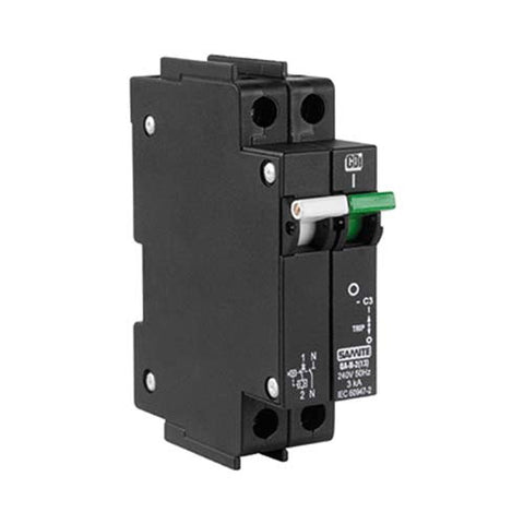 CBi Mini Rail Circuit Breaker 1 Pole + N 3kA - QA-N-2(13) QAL2135