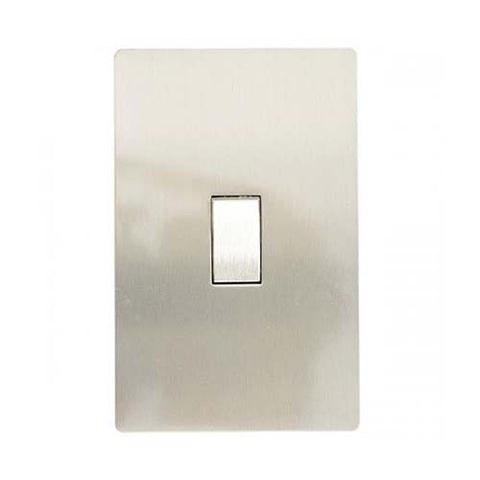 CBi Brushed Stainless Steel 1 Lever 2-Way Light Switch v1s/jos42/ss1g2w