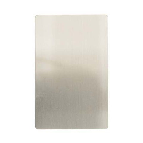 CBi Brushed Stainless Steel Blank 100mm x 50mm v1s/jos42/ssbp