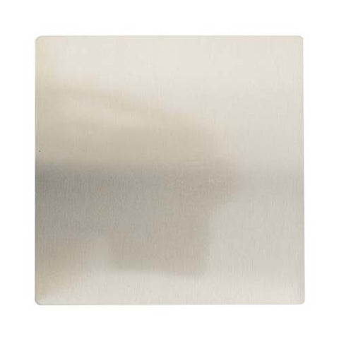 CBi Brushed Stainless Steel Blank 100mm x 100mm v1s/jos44/ssblank
