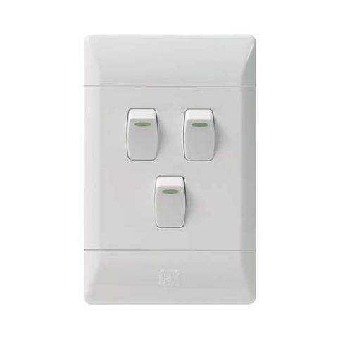 CBi PVC 3 Lever Light Switch L124-P