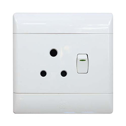 CBi PVC Single Switched Socket PS674R-P