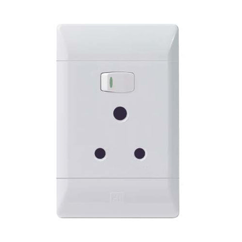 CBi PVC Single Switched Socket PS672-P