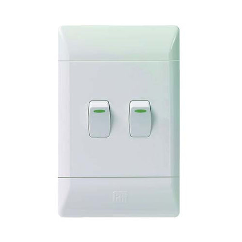 CBi PVC 2 Lever Light Switch L122-P