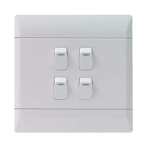CBi PVC 4 Lever Light Switch L126-P