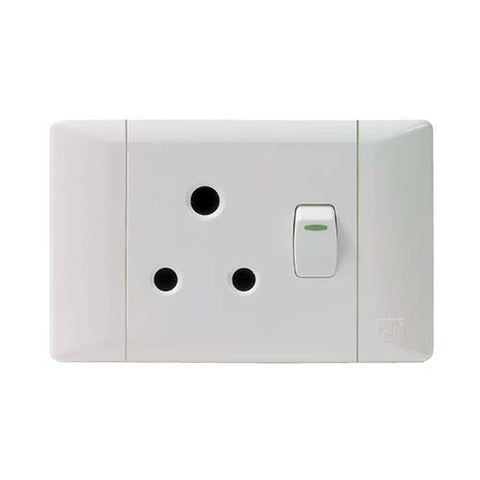 CBi PVC Single Switched Socket Horizontal PS673-P
