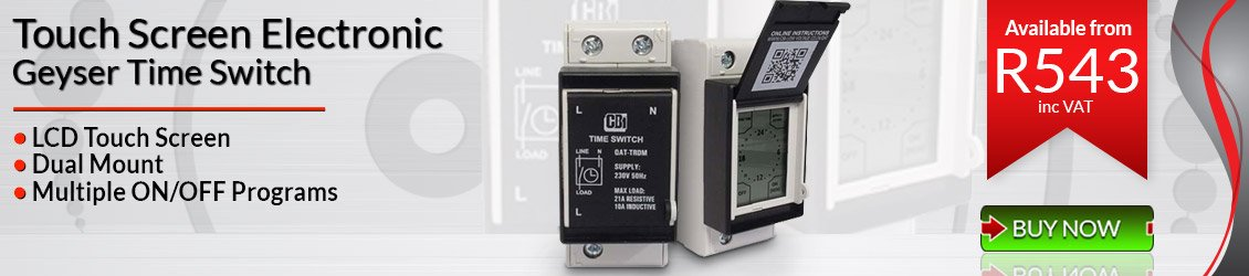 CBi Touch Screen Geyser Timer