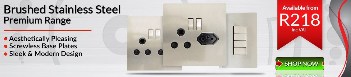 CBi Brushed Stainless Steel Switches & Sockets