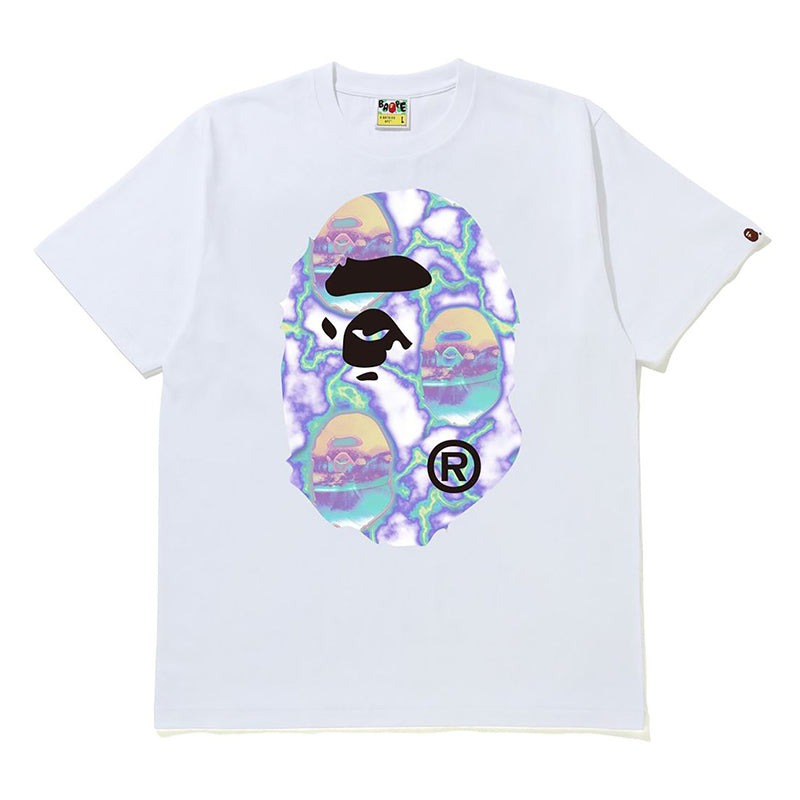 BAPE APE HEAD LIGHTNING TEE