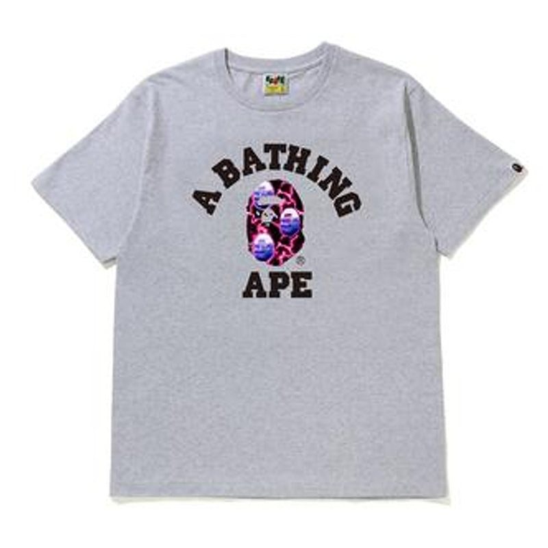 BAPE LIGHTNING COLLEGE LOGO EE (LIGHT GREY)