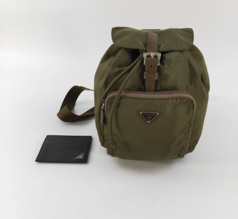 Prada Light Khaki Vela Backpack (35)