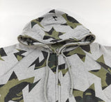 BAPE STA Full Zip Hoodie (Grey/Green)