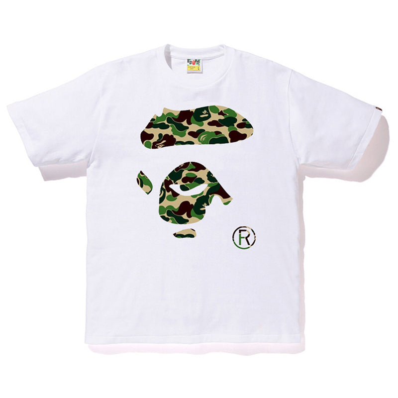 BAPE ABC Camo Ape Face Tee (Green/White)