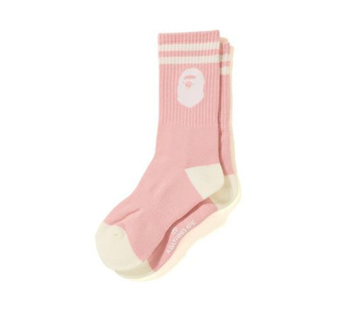 BAPE Ape Head Socks (Light Pink)