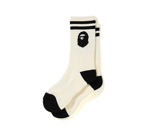 BAPE Ape Head Socks (White)