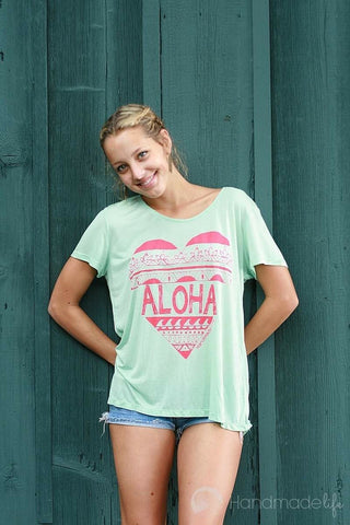 I Wear My Aloha Tee in Mint