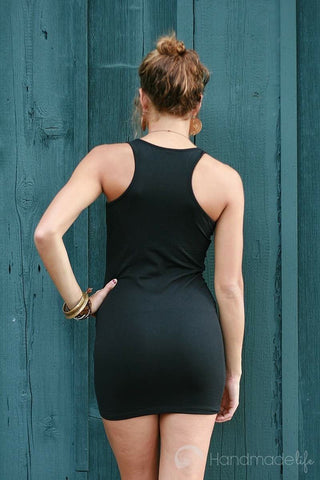 Mo'olio Slim Dress in Black
