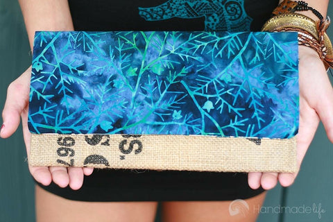 Handcrafted Snap Clutch - Twig
