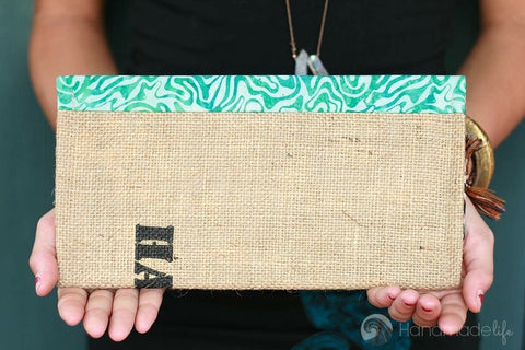 Handcrafted Snap Clutch - Swirl