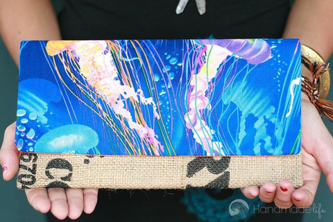 Handcrafted Snap Clutch - Jellyfish