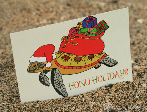 Honu Holiday Art Print