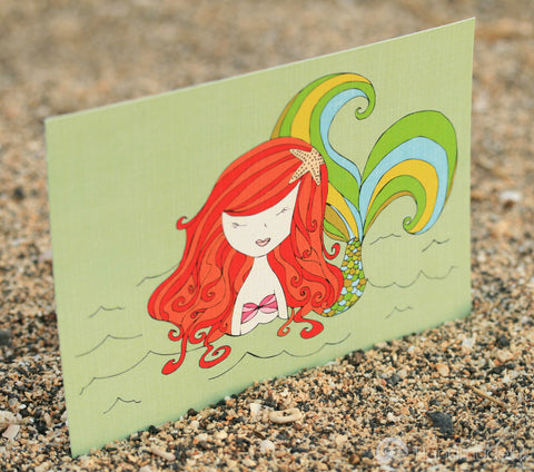 Mermaid Up for Air Art Print