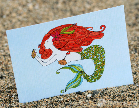 Mermaid Treasure Art Print