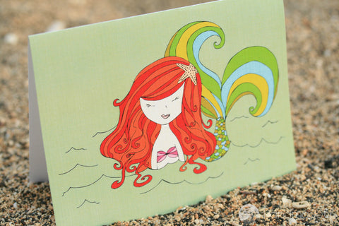 Mermaid Up For Air Greeting Card