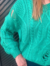 Load image into Gallery viewer, All Is Bright Cable Knit Sweater-Liz + Lee Boutique