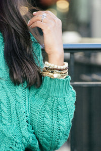 All Is Bright Cable Knit Sweater-Liz + Lee Boutique