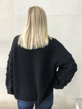 Load image into Gallery viewer, Back In Black Sweater-Liz + Lee Boutique