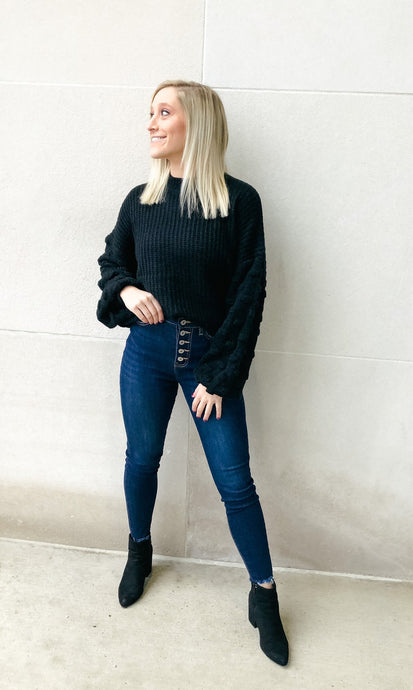 Back In Black Sweater-Liz + Lee Boutique