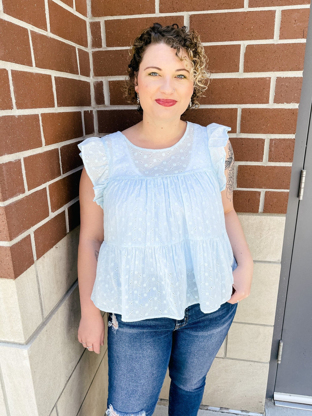 Bayview Babydoll Top-Liz + Lee Boutique
