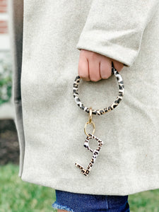 Cheetah Print Key Chain-Liz + Lee Boutique