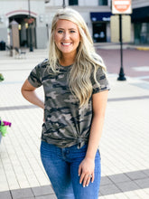 Load image into Gallery viewer, Come On Camo Round Neck Top-Liz + Lee Boutique