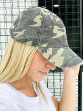 Load image into Gallery viewer, Distressed Camo Hat-Liz + Lee Boutique