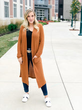 Load image into Gallery viewer, Eastwood Cardigan - Camel-Liz + Lee Boutique